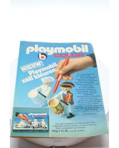 """playmobil Advertisement from """" Donald Duck"""" dutch version promo of color playmobil"""
