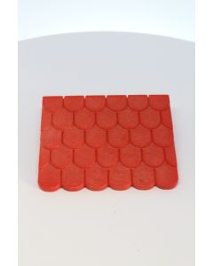 playmobil Vintage red flat roof for expansion in roof middle age houses series 34..